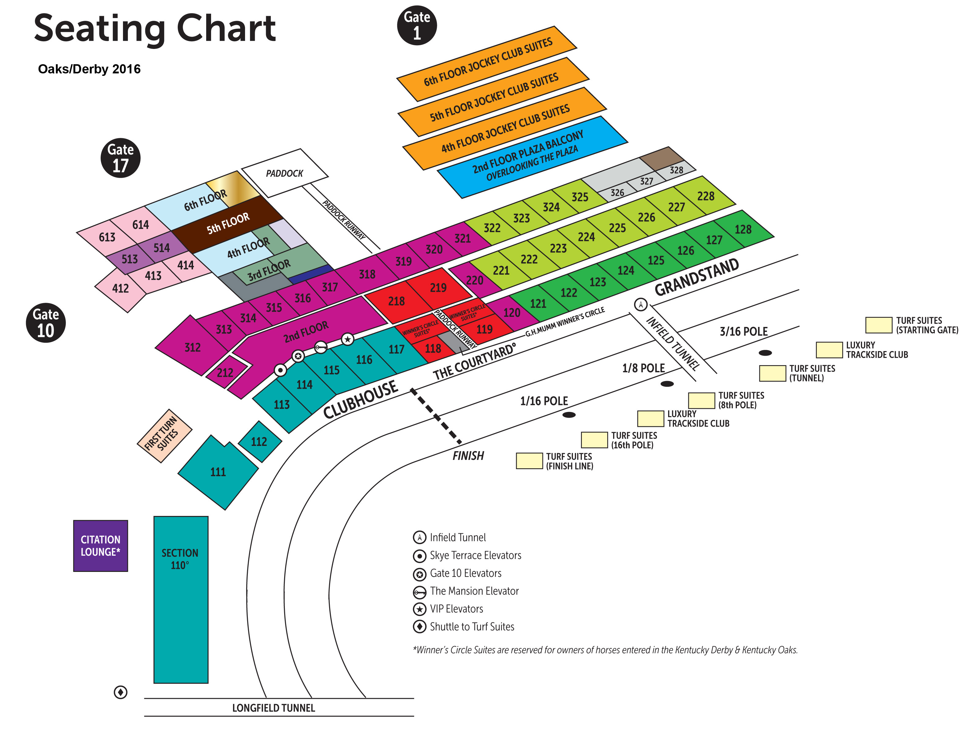 Churchhill Downs Louisville KY Seating Chart